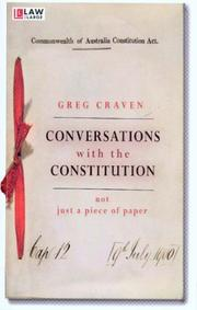 Cover of: Conversations with the Constitution | Gregory Craven