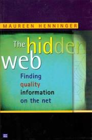 Cover of: The hidden web