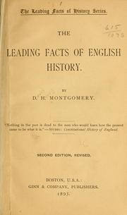 Cover of: The leading facts of English history | David Henry Montgomery