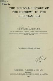 The Biblical history of the Hebrews to the Christian era