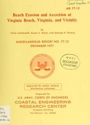 Cover of: Beach erosion and accretion at Virginia Beach, Virginia and vicinity | Victor Goldsmith