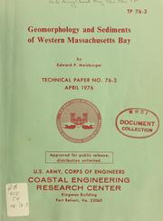 Cover of: Geomorphology and sediments of western Massachusetts Bay | Edward P. Meisburger