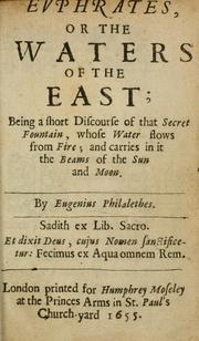 Cover of: Evphrates, or, The waters of the east | Vaughan, Thomas