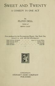 Cover of: Sweet and twenty by Floyd Dell
