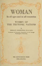 Cover of: Women of the Teutonic nations | Hermann Schoenfeld