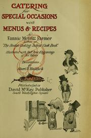 Cover of: Catering for special occasions by Fannie Merritt Farmer