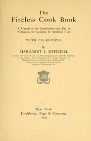Cover of: The fireless cook book by Margaret Johnes Mitchell