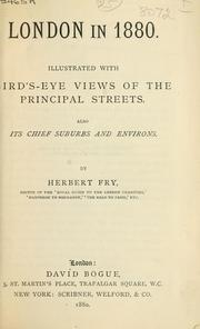 Cover of: London in 1880 | Herbert Fry