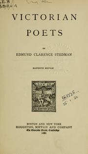 Cover of: Victorian poets | Edmund Clarence Stedman