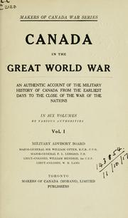 Cover of: Canada in the great world war | by various authorities ...
