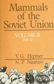 Cover of: Mammals of the Soviet Union | V. G. Geptner