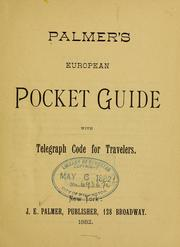 Cover of: Palmer's European pocket guide |