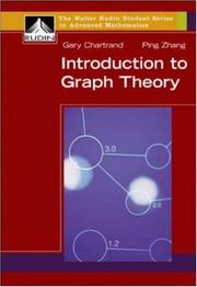 Cover of: Introduction to Graph Theory (reprint) (Walter Rudin Student Series in Advanced Mathematics) | Gary Chartrand