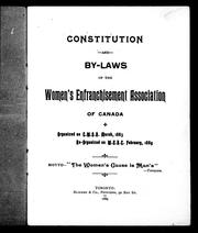 Cover of: Constitution and by-laws of the Women