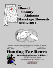 Cover of: Blount Co AL Marriages 1820-1891 |