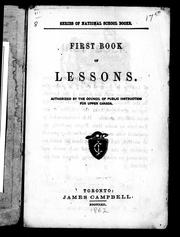 Cover of: First book of lessons |
