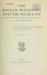 Cover of: The Balkan Peninsula and the Near East | Ferdinand Schevill