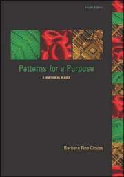 Cover of: Patterns for a Purpose with Student Access to Catalyst