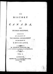 Cover of: The history of Canada, from its first discovery | George Heriot