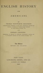 Cover of: English history for Americans | Thomas Wentworth Higginson