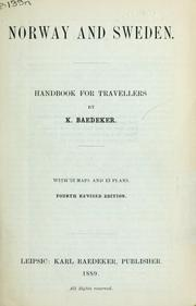 Cover of: Norway and Sweden | Karl Baedeker (Firm)