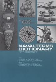 Cover of: Naval terms dictionary | John Vavasour Noel