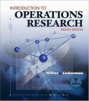 Cover of: Introduction to Operations Research and Revised CD-ROM 8 | Frederick S. Hillier