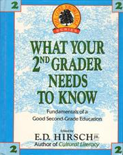 Cover of: What your second-grader needs to know |