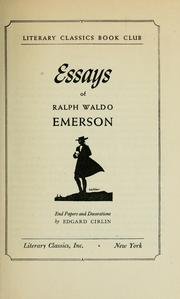 Cover of: Essays, first series