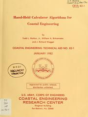 Cover of: Hand-held calculator algorithms for coastal engineering | Todd L. Walton