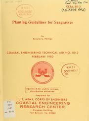 Cover of: Planting guidelines for seagrasses | Ronald C. Phillips