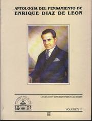 Cover of: Antología Universitaria en torno a Enrique Díaz de León, Volumen III