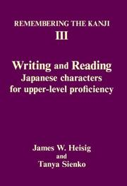 Cover of: Remembering the Kanji III | James W. Heisig