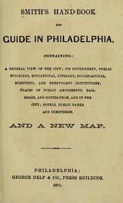 Cover of: Smith's hand-book and guide in Philadelphia by