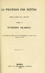 Cover of: La procesión por dentro | Eusebio Blasco