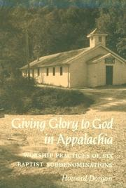 Cover of: Giving Glory to God in Appalachia