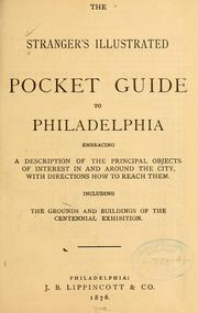 Cover of: The stranger's illustrated pocket guide to Philadelphia by
