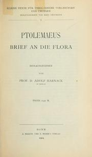 Cover of: Ptolemaeus Brief an die Flora | Ptolemy the Gnostic