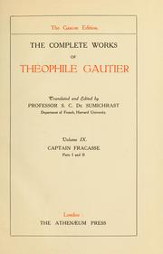 Cover of: Complete works | ThГ©ophile Gautier