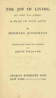 Cover of: joy of living (Es lebe das leben) | Hermann Sudermann