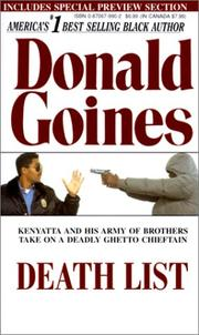 Cover of: Death List | Donald Goines