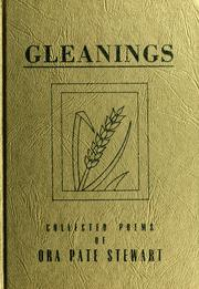 Cover of: Gleanings | Ora Pate Stewart