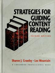 Cover of: Strategies for guiding content reading | Sharon J. Crawley