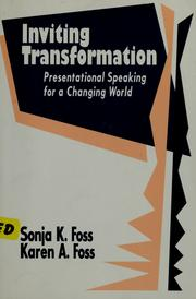 Cover of: Inviting transformation | Sonja K. Foss