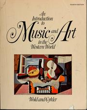 Cover of: An introduction to music and art in the Western World by Milo Arlington Wold