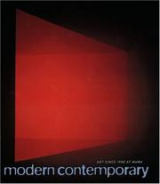 Cover of: Modern contemporary
