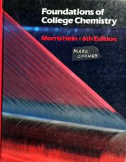 Cover of: Foundations of college chemistry by Morris Hein