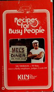 Cover of: Recipes for busy people | Sylvia Schur