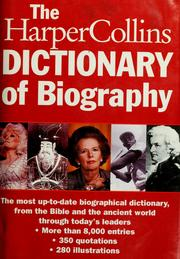Cover of: The Harpercollins Dictionary of Biography | HarperCollins