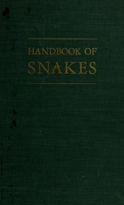 Cover of: Handbook of snakes of the United States and Canada | Albert Hazen Wright